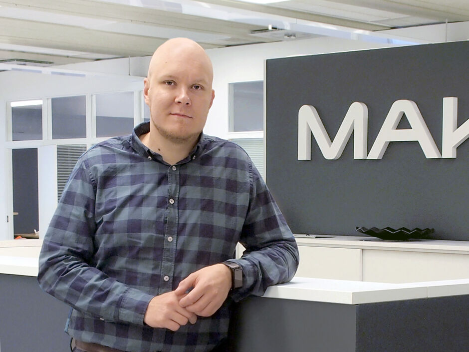 Business Manager Verneri Väisänen, Makron Engineering, Hollola Finland